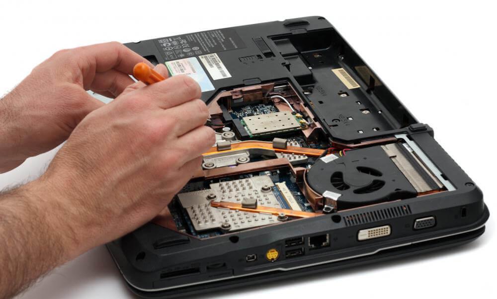 czyszczenie układu chłodzenia w laptopie