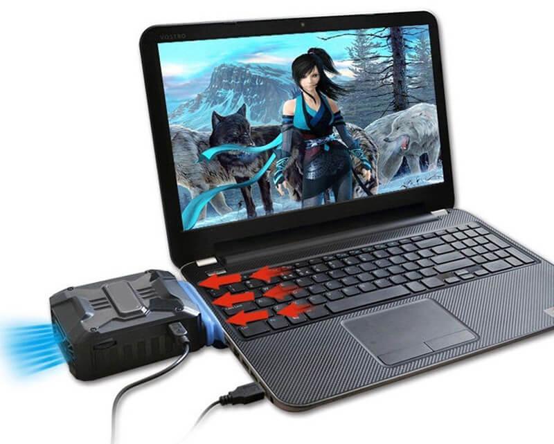 system chłodzenia laptopa